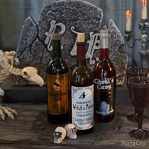 Halloween Wine Label Idea