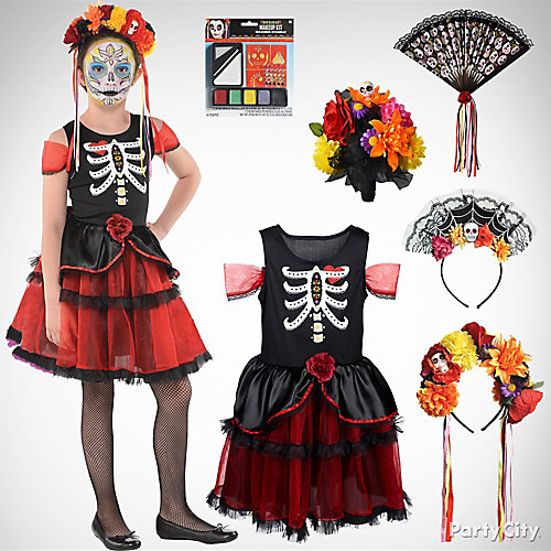 Girls' Day of the Dead Costume Idea