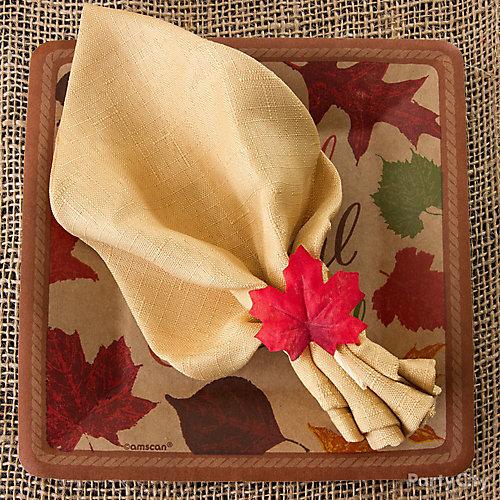 Napkin Leaf Ring Idea