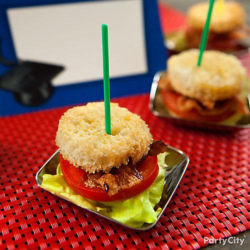 Mini BLT Sandwich Rounds Idea