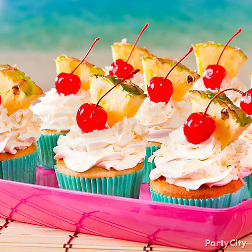 Tropical Pina Colada Cupcakes Idea