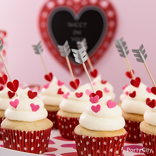 Cupids Arrow Cupcake Idea - Valentines Day Baking Party ...
