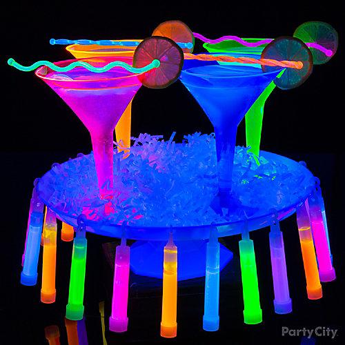 Black Light Martini Cocktail Idea