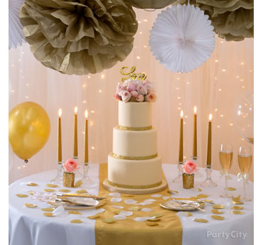 gold wedding cake toppers party city gold glam wedding reception ideas city city 14839