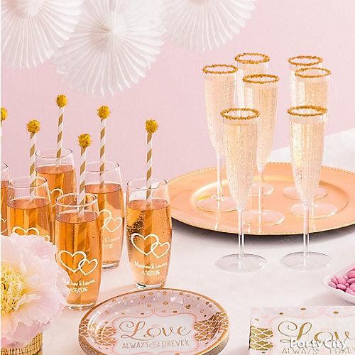 Bridal Shower Champagne Idea