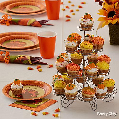 Bountiful Cupcake Stand Idea