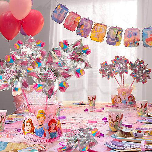Disney Princess Pinwheel Centerpiece DIY