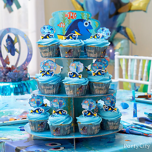 Dory Cupcake Tower Idea