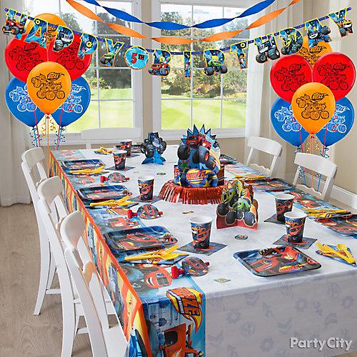 Blaze Party Table Idea