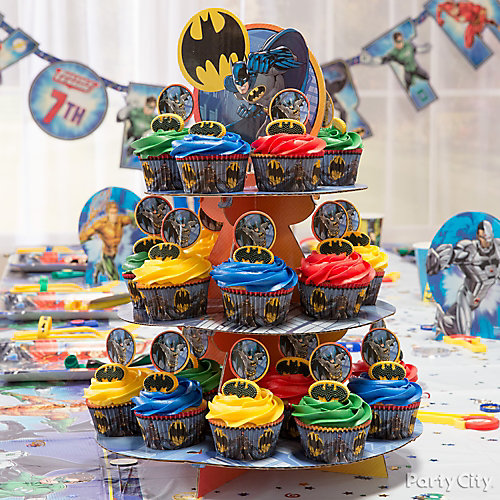 Justice League Cupcake Tower Idea