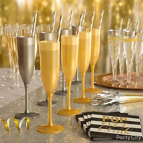 Champagne Flutes Display Idea