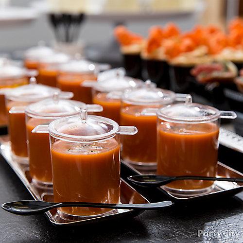 Gazpacho Soup Sippers Idea