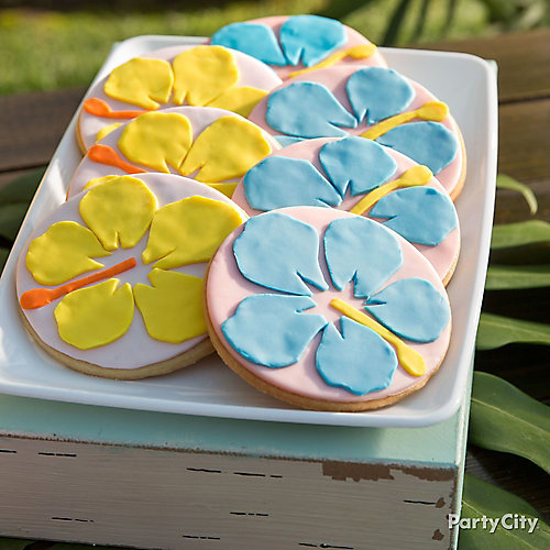 Hibiscus Flower Cookies Idea