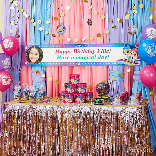 shimmer and shine custom banner idea decorating ideas dc super