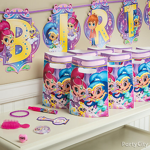 Shimmer and Shine Favors for 8 Idea