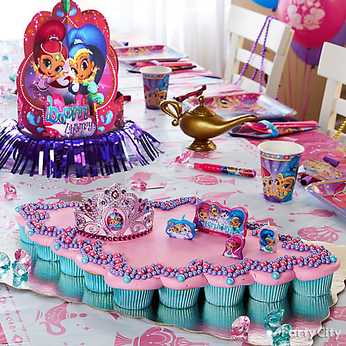 Shimmer and Shine Pull Apart Cupcake Cake