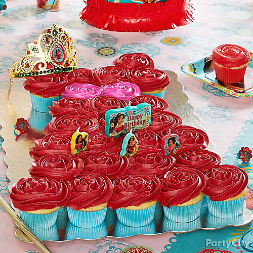 Elena of Avalor Pull Apart Cupcake Cake