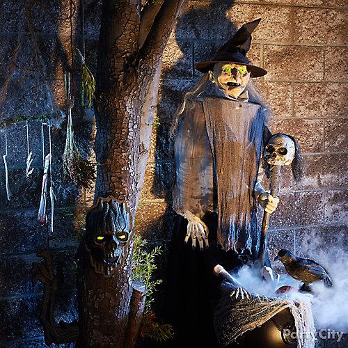 Animatronic Witch and Cauldron Idea