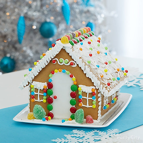 Holiday Cookie Party Classic Gingerbread House Idea