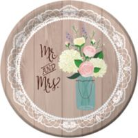 Rustic Wedding Dinner Plates 8ct