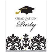 Fill in graduation invitations party city black white graduation invitations 50ct filmwisefo Choice Image