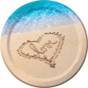 Beach Love Wedding Dinner Plates 8ct