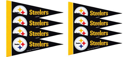 Nfl pittsburgh steelers party supplies party city canada pittsburgh steelers pennants 8ct filmwisefo