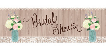 Giant Rustic Bridal Shower Banner