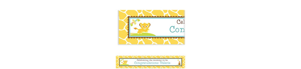 Custom lion king baby shower invitations party city custom lion king baby shower baby shower banner 6ft filmwisefo