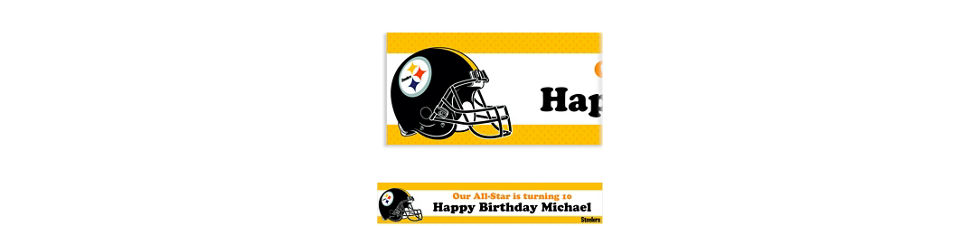 Custom pittsburgh steelers invitations party city custom pittsburgh steelers banner 6ft filmwisefo