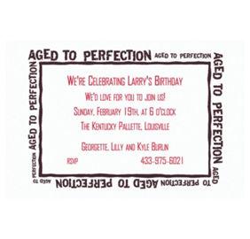 custom aged like fine wine invitations party city