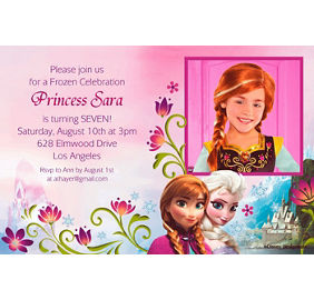Frozen invitations 8ct party city custom frozen photo invitations filmwisefo