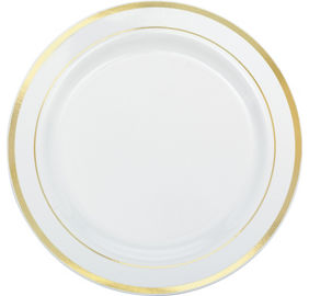 White Gold Premium Tableware | Party City