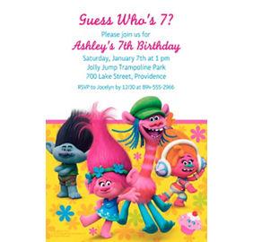 Trolls invitations 8ct party city custom trolls invitation filmwisefo