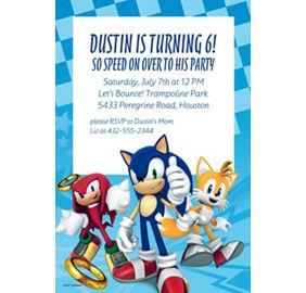 Custom Sonic The Hedgehog Banners