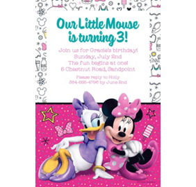 Minnie mouse invitations party city custom minnies happy helpers invitation filmwisefo