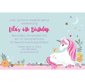 Magical unicorn invitations 8ct party city custom magical unicorn invitation filmwisefo