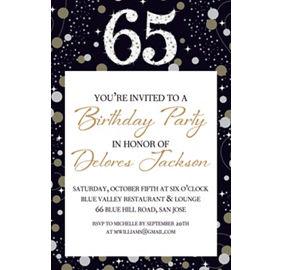 custom sparkling celebration 65th birthday photo invitation party city