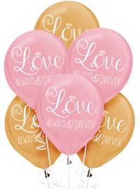 Wedding balloons balloon bouquets party city gold pink sparkling wedding balloons 6ct junglespirit Images