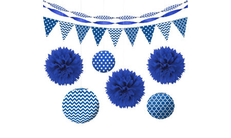 Royal Blue Decorations - Royal Blue Balloons, Banners & Confetti ...