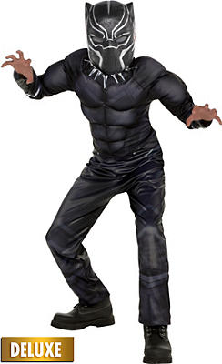 boys black panther muscle costume black panther