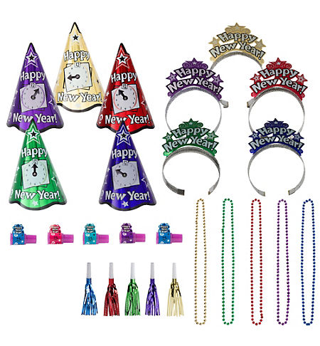 Ultimate Congrats Grad Silver Graduation Party Kit for 54 Guests