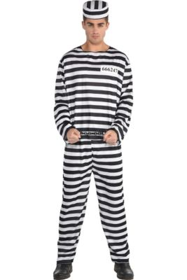 Adult Jail Bird Convict Prisoner Costume a26288ef522