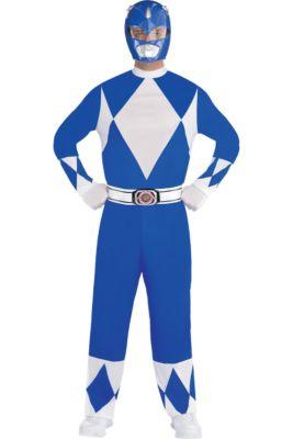 318bae369 Adult Blue Power Ranger Costume - Mighty Morphin Power Rangers