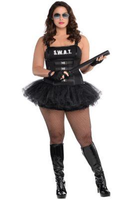 adult hot swat costume plus size