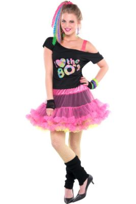 Adult 80s Valley Girl Costume Deluxe 9f88f3397496
