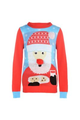 child santa ugly christmas sweater