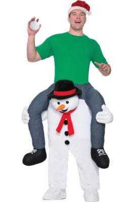 Christmas costumes outfits snowman reindeer costumes party city adult snowman ride on costume solutioingenieria Image collections