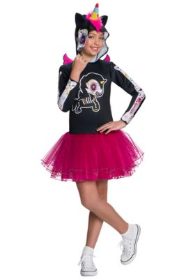 Girls Caramelo Unicorno Costume