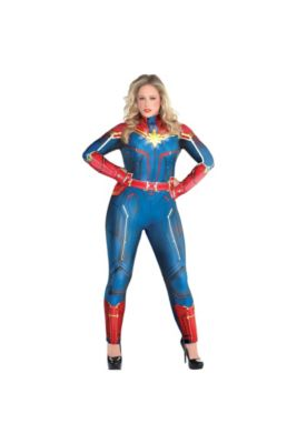 555c77513 Adult Light-Up Captain Marvel Costume Plus Size - Captain Marvel